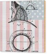 American Firefighter's Helmet Wood Print