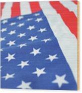 American Flag 2 Wood Print