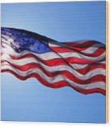 American Flag Fort Sumter Wood Print