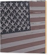 American Flag Shop Wood Print