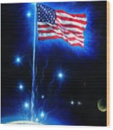 American Flag. The Star Spangled Banner Wood Print