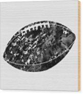 American Football-black Wood Print