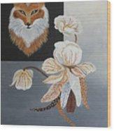 American Fox Wood Print
