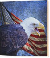 American Freedom  Wood Print by Nicole Markmann Nelson
