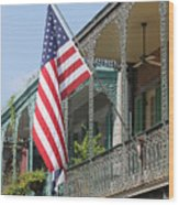 American French Quarter Wood Print