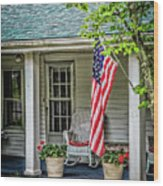 American Front Porch Wood Print
