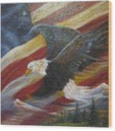 American Glory Wood Print