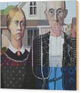 American Gothic In Six Styles Wood Print