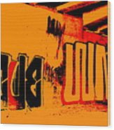 American Graffiti 3 - This Buds For You Wood Print