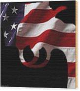American Gun Wood Print