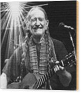 American Icon - Willie Nelson Wood Print