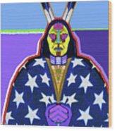 American Indian By Nixo Wood Print