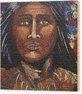 American Indian Portrait Wood Print