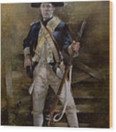 American Infantryman C.1777 Wood Print by Chris Collingwood
