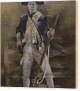 American Infantryman C.1777 Wood Print