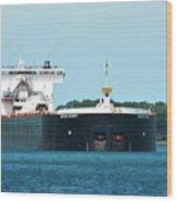 American Integrity Ship Wood Print