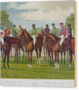 American Jockeys, 1889 Wood Print
