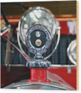 American Lafrance Vintage Fire Truck Gas Cap Wood Print