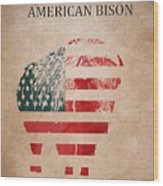 American Mammal The Bison Wood Print