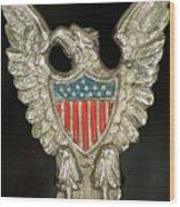 American Metal Eagle Wood Print