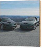 American Muscle Cars Wood Print