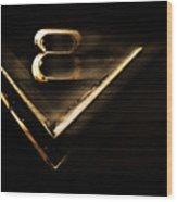 American Muscle V8 Wood Print