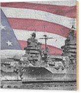 American Naval Power Wood Print