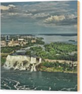 American Niagara Falls  Wood Print