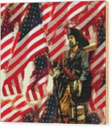 American Pirate Wood Print