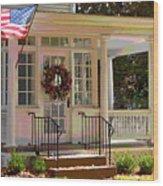 American Porch Wood Print