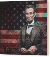 American President Abraham Lincoln 01 Wood Print