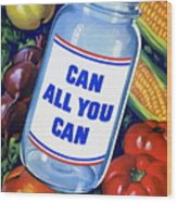 American Propaganda Poster Promoting Canned Food Wood Print