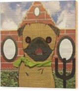 American Pug Gothic Wood Print