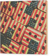 American Quilting Background Wood Print