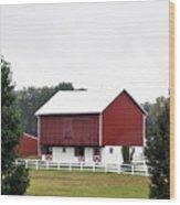 American Red Barn II Indiana Wood Print