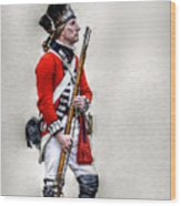 American Revolution British Soldier  Wood Print by Randy Steele