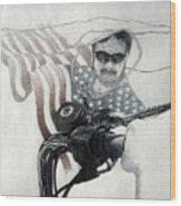 American Rider Wood Print