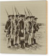 American Soldiers At Fort Mifflin Wood Print