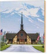 American Soldiers Chapel Wood Print