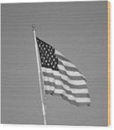 American Spirit B/w Wood Print