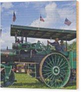 American Steam Roller Wood Print
