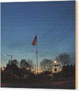American Sunset Wood Print