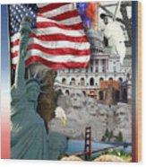 American Symbolicism Wood Print