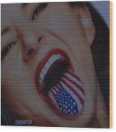 American Tounge Wood Print