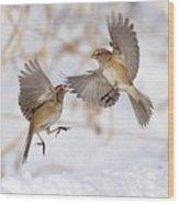American Tree Sparrows Wood Print