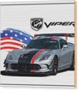 American Venom Wood Print