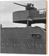 American Victory Ship Wood Print