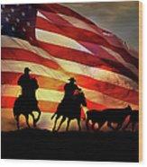 American West Wood Print