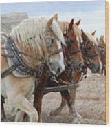 American Work Horse Wood Print