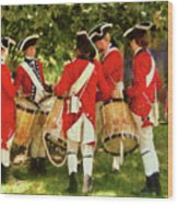 Americana - People - Preparing For Battle Wood Print